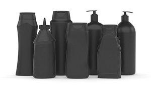 3D bottle plastic model