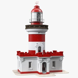 3D Point Perpendicular Lighthouse Red