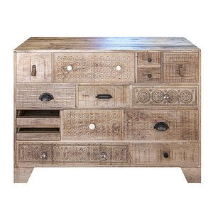 chest drawers carved model