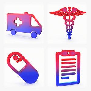 3D Logo Ambulance Caduceus Capsule Check list