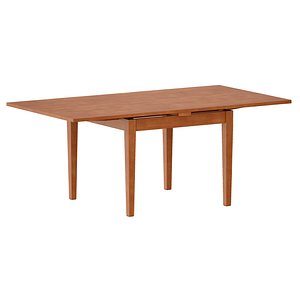 Pratico Nero Noce Extension Square Dining Table Open model