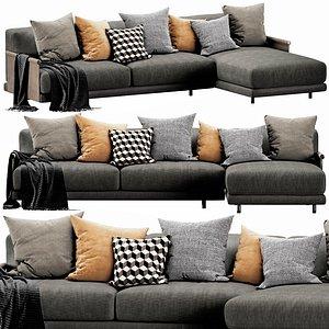 3D Ditre Italia Althon Chaise Lounge