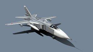 3D Su-24M Fencer Bomber model