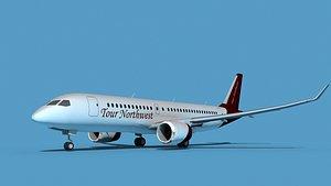 3D Bombardier CS100 Tour Northwest