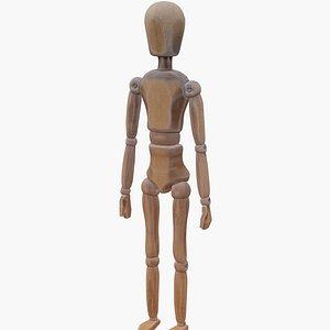 Wooden mannequin model