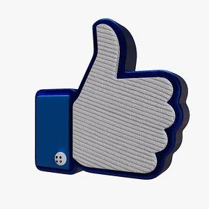 cartoon thumbs-up art 3D