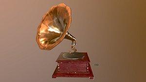 pbr gramophone model