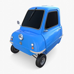 3D Peel P50 Blue with chassis model
