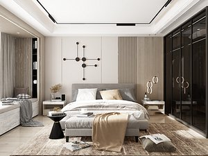 Modern Style Bedroom - 537 3D model