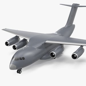 3D Large Military Transport Aircraft model