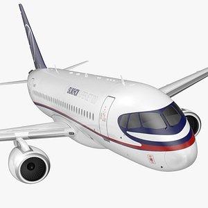 Sukhoi Superjet 100 with Saberlets Flight 3D model