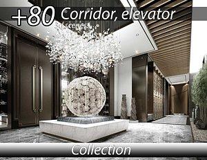 3D model Corridor elevator interior 3d scene
