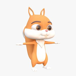cartoon squirrel 3D