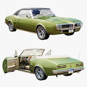 3D Pontiac firebird 1967 convertible