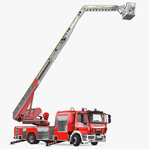 3D Iveco FF160 Magirus Fire Truck Ready Position