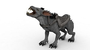 3D Werewolf Rigged and Animated 3D model model