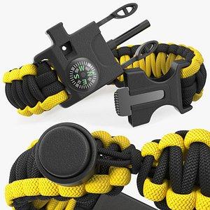 3D Tactical Paracord Bracelet Yellow