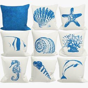 Sofa Pillows Collection V3 3D model