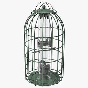 Caged Bird Feeder model