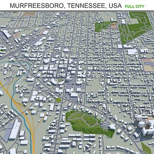 Murfreesboro Tennessee USA 3D model