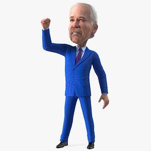 3D Cartoon Joe Biden Fist Up Pose