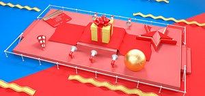 Star gift bank card credit card horn earth e-commerce poster advertising shopping carnival model
