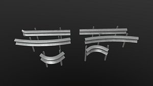 3D Modular Road Barriers model