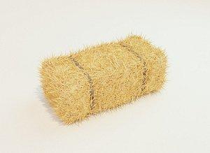 3D square hay bale model