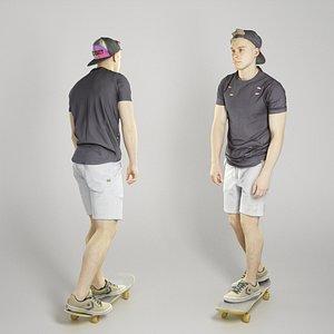 sporty man character 3D model