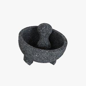 mortar pestle decoration 3D model