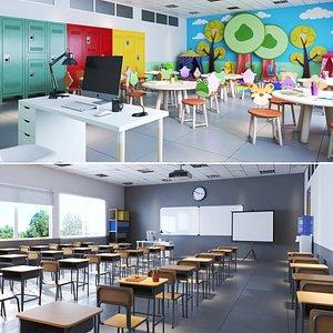 3D class school model