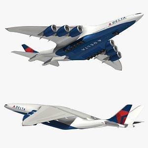 HyperCargo Delta Airlines model