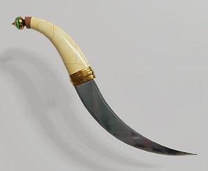 arabian dagger 3D model