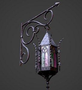 Gothic Street Lantern 3D model