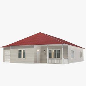 Family House 08 3D model