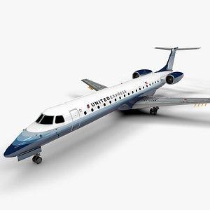 UNITED EXPRESS EMBRAER ERJ 145 L1427 3D model