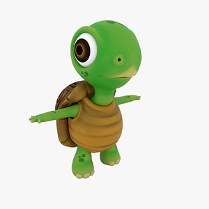 3D model turtle rigged