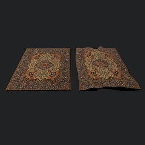 flower design tapestry 3D model