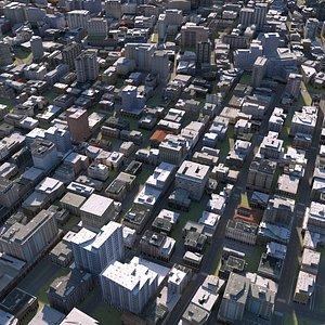3D city cityscape