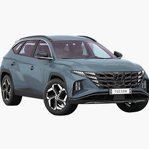 Hyundai Tucson 2021 Opening doors and trunk 3D model