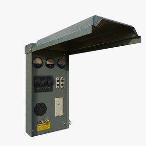 3D Electric Panel Box model