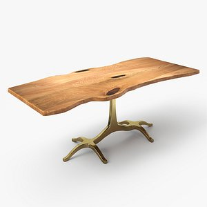 3D slab dining table model