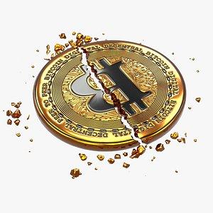 3D coin broken model