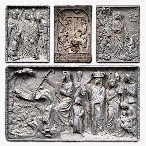 Religious Reliefs Collection Set 3D model