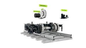 bogie railroad 3D model