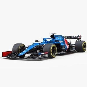 3D model F1 Alpine A521 2021