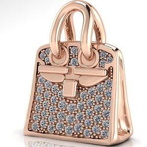 hermes necklace bag 3D