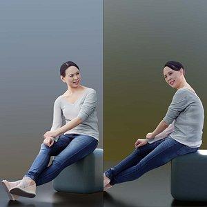 3D model 10013 Bao - Casual Woman Sitting