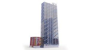SLS Brickell Hotel Miami 3D