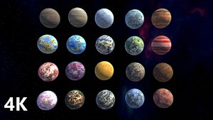 3D model planets pack 23